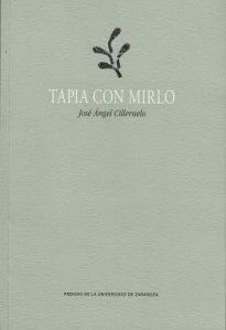Tapia con mirlo, de José Ángel Cilleruelo (Prensas de la Universidad de Zaragoza, 2014)